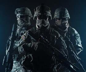 Armed soldiers Stock Photo 12
