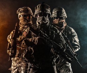 Armed soldiers Stock Photo 13