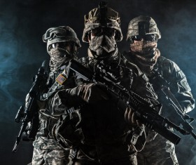 Armed soldiers Stock Photo 14