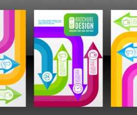 Arrow concept flyer and brochure cover vector 03