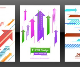 Arrow concept flyer and brochure cover vector 04