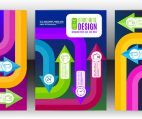 Arrow concept flyer and brochure cover vector 07