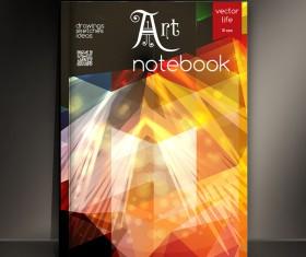 Art notebook cover template vector 07