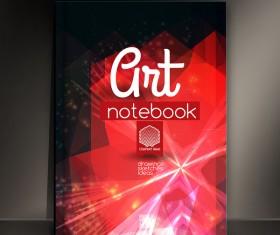 Art notebook cover template vector 08
