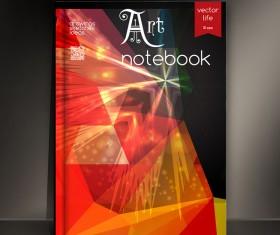 Art notebook cover template vector 09