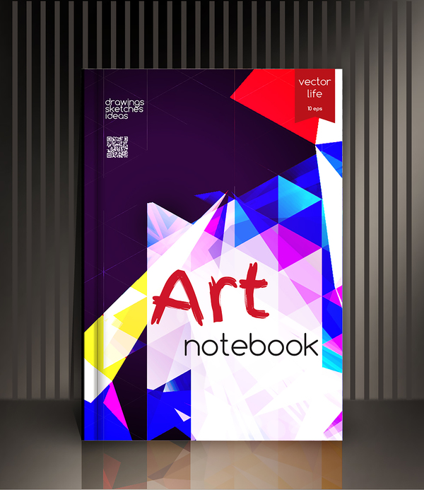 Art Notebook Cover Template Vector 11 Free Download