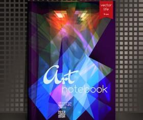 Art notebook cover template vector 12