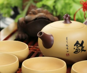 Asian Kung Fu tea sets Stock Photo 01