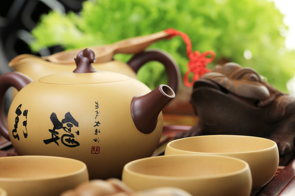 Asian Kung Fu tea sets Stock Photo 02
