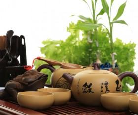 Asian Kung Fu tea sets Stock Photo 03