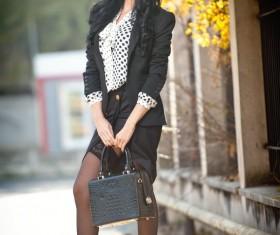 Autumn street shoot women Stock Photo