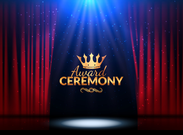 Award ceremony red curtain background vector - Vector Background free ...