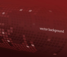 Back tubes with red background vector