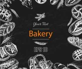 Bakery poster retro styles vector 01