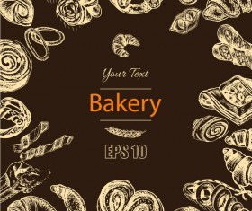 Bakery poster retro styles vector 03