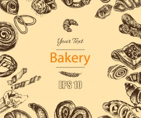 Bakery poster retro styles vector 04