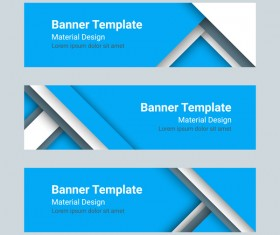 Banner template blue styles vector