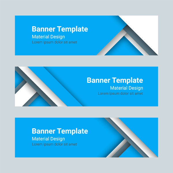 banner template blue styles vector free download. Black Bedroom Furniture Sets. Home Design Ideas