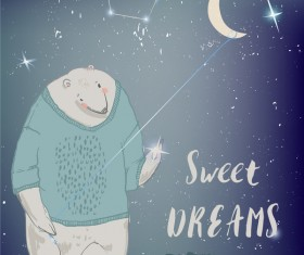 Bear cartoon character vector illustration