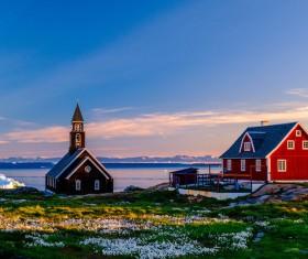 Beautiful Summer Greenland Stock Photo