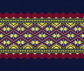 Beautiful ethnic ornament pattern vector 03