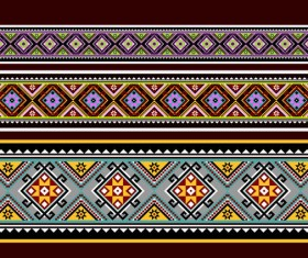 Beautiful ethnic ornament pattern vector 05