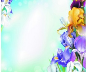 Beautiful flower with brilliant background vectors 03