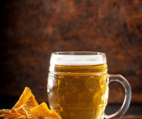 Beer and potato chips Stock Photo 02