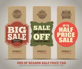 Big sale vertical banner vector 03