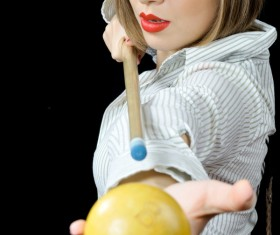 Billiards girls HD picture