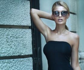 Black dress fashion beauty HD picture 01