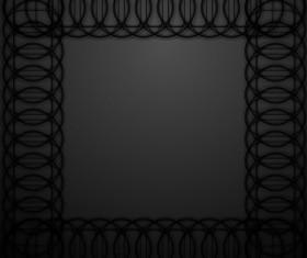 Black round frame vectors