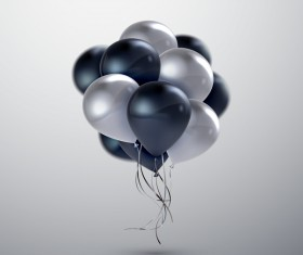 Black silver balloon background vector 03
