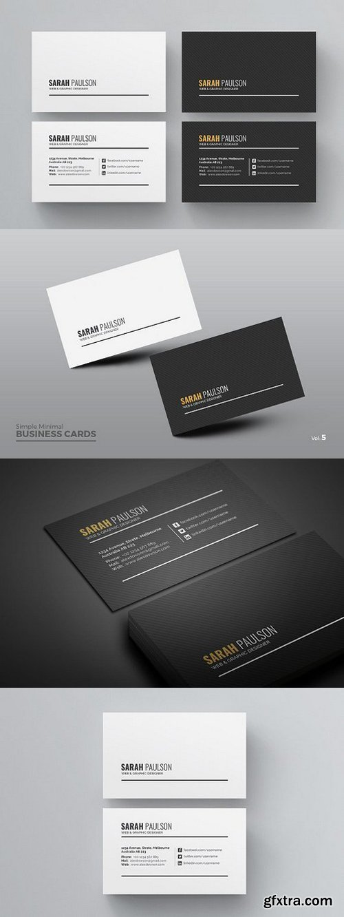 Black with white clean business card psd template free download black with white clean business card psd template reheart Images