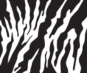 Black zebra pattern vector design 03
