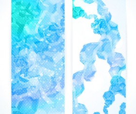 Blue abstract vertical banner template vector