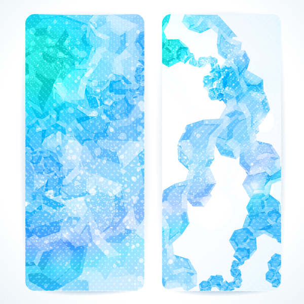 blue abstract vertical banner template vector free download