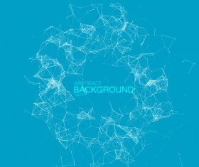 Blue background with particles and lines vector