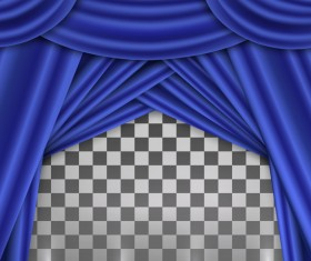 Blue curtains background illustration vector