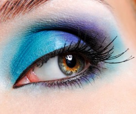 Blue eye makeup HD picture