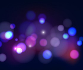 Blue halation with blurs background vector