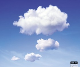 Blue sky and clouds vector backgrounds 02