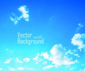 Blue sky and clouds vector backgrounds 04
