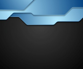 Blue with black modern background vector