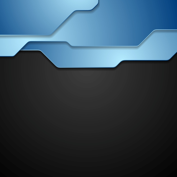Blue with black modern background vector - Vector ...