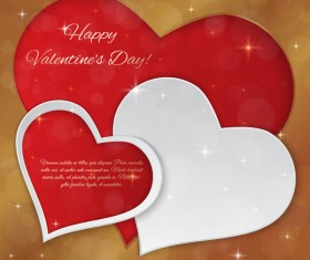 Bright valentines day card with heart vectors
