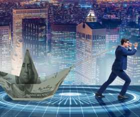 Businessmen save the dollar Stock Photo 03