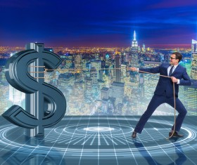 Businessmen save the dollar Stock Photo 04