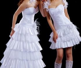 Cake skirt wedding dress beauty HD picture
