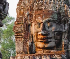 Cambodia Buddha head Mogao Grottoes HD picture 02